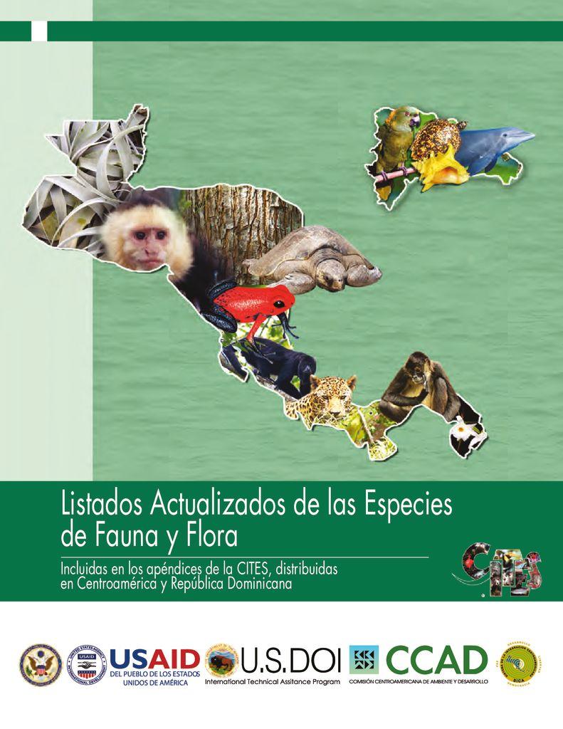 2010. Listados Actualizados de las Especies de Fauna y Flora CITES