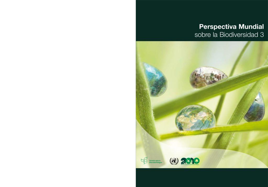 2010. Perspectiva mundial sobre la Biodiversidad. Secretaría del Convenio sobre la Diversidad Biológica