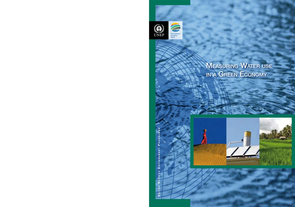 2012. Measuring Water use in a Green Economy. United Nations