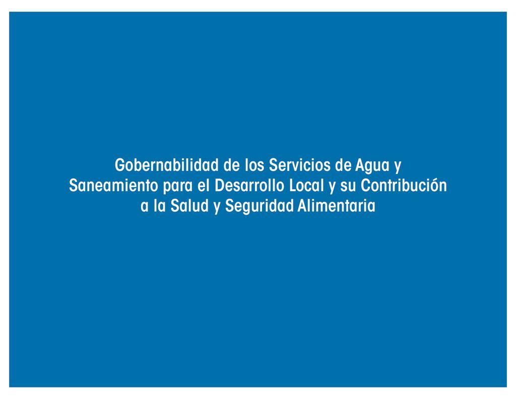 2016. Gobernabilidad de los Servicios de Agua. ANAM