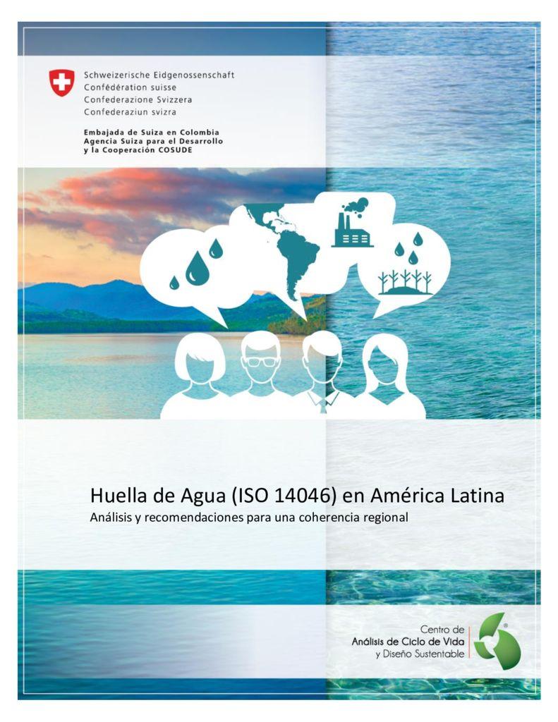 2016. Huella Agua ISO 14046 America Latina