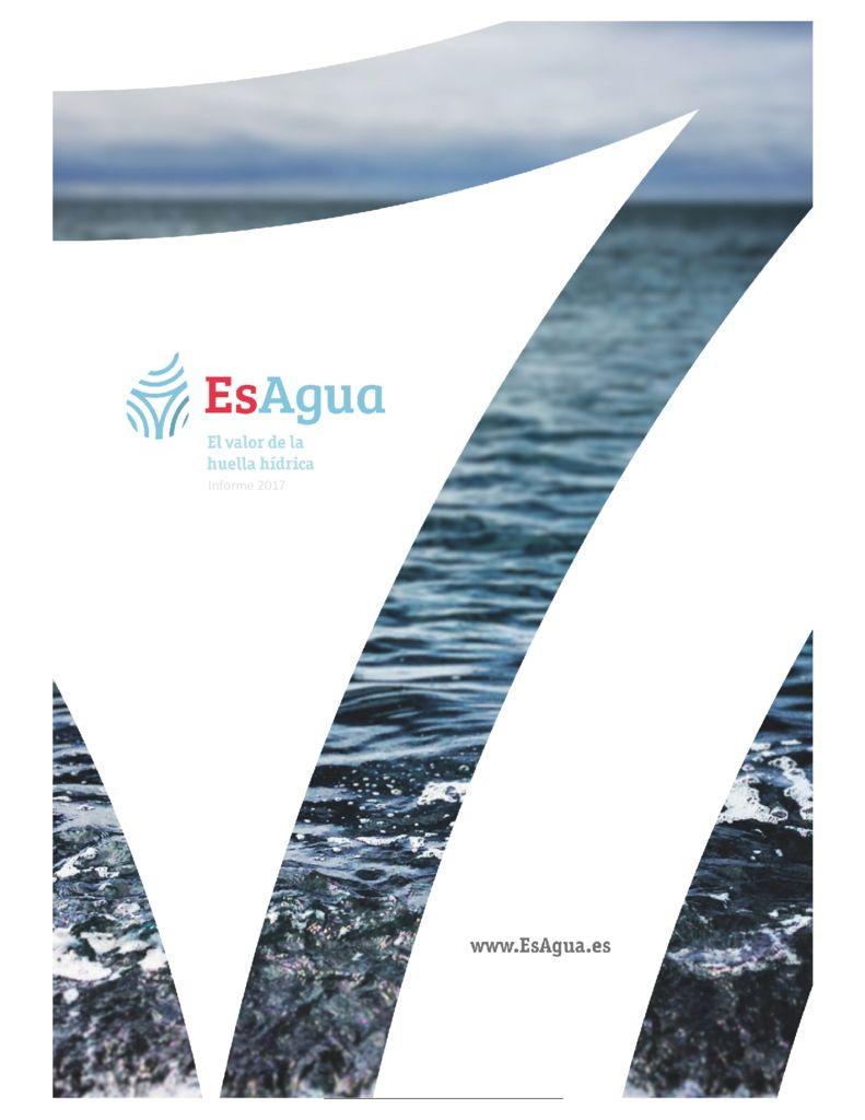 2017. El valor de la Huella Hídrica. EsAgua