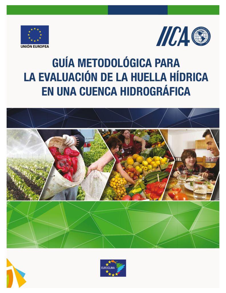 2017. Guía Metodológica para la evaluación de la Huella Hídrica en una Cuenca Hidrográfica. IICA