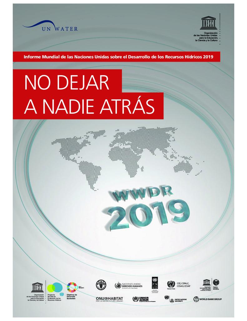 2019. Informe Mundial sobre Recursos Hídricos. No deja a nadie atrás