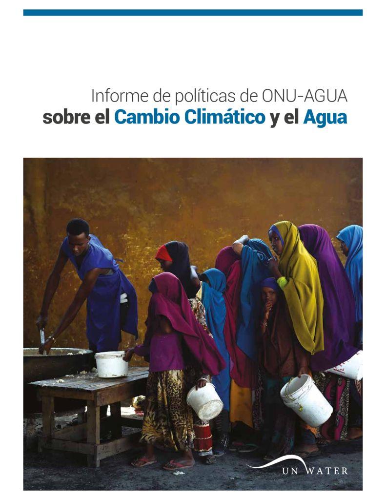 2019. Informe de políticas de ONU-AGUA sobre el Cambio Climático y el Agua. Naciones Unidas