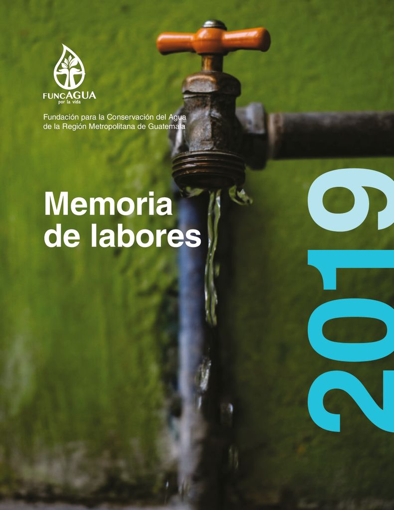 2019. Memoria de labores. FUNCAGUA