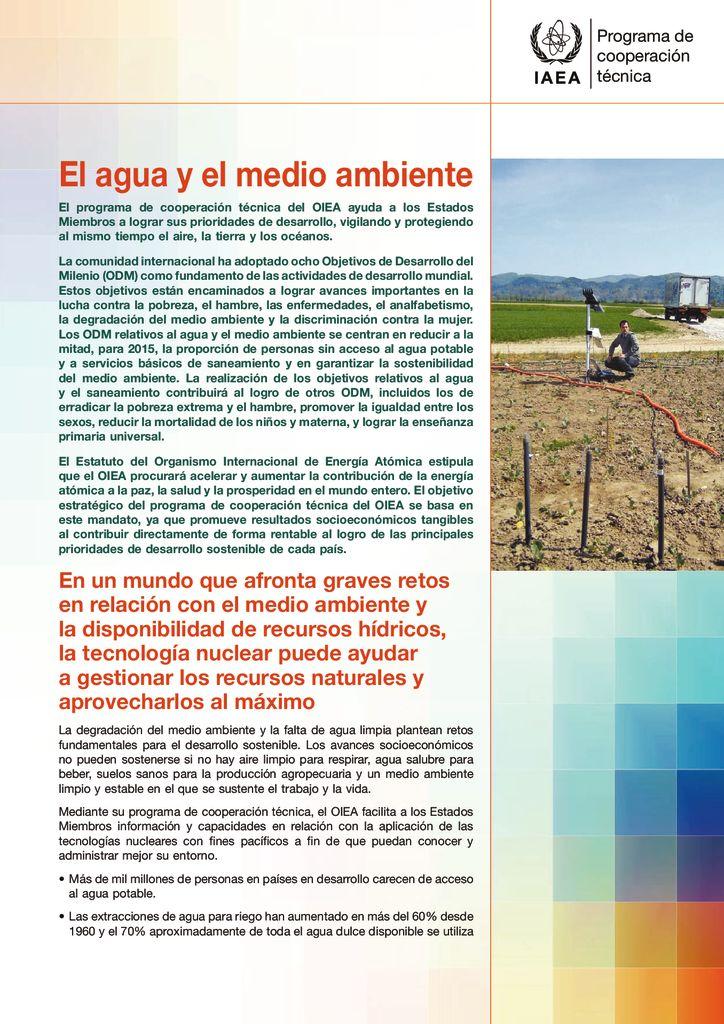 SF. El agua y el medio ambiente. IAEA