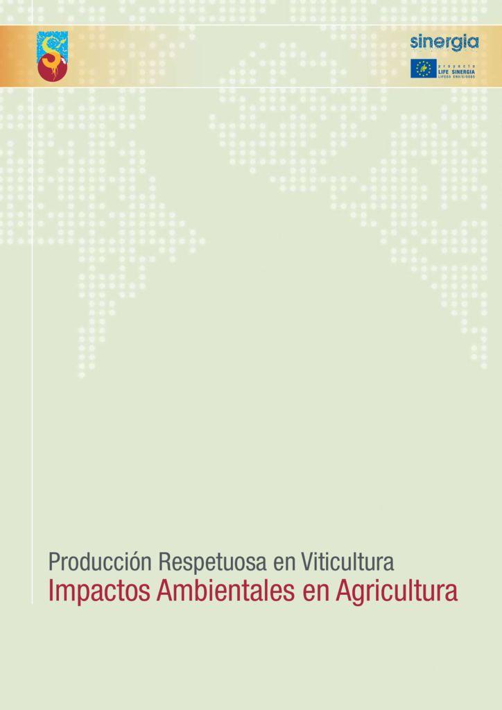 SF. Impactos ambientales en agricultura