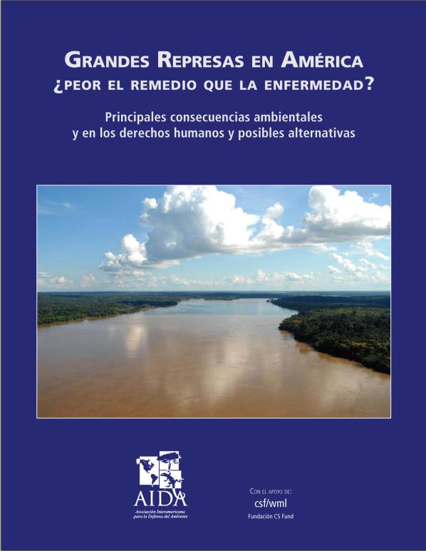 2009. Grandes represas en América – Principales consecuencias ambientales y en los derechos humanos y posibles alternativas  AIDA