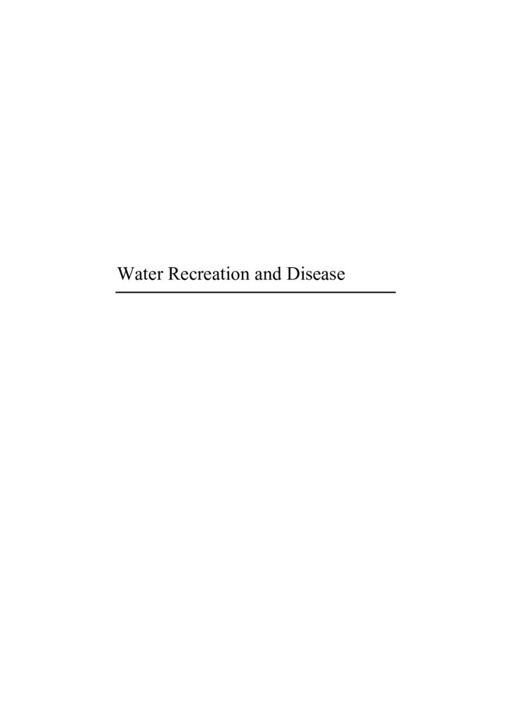 2005. Water Recreation and Disease OMS